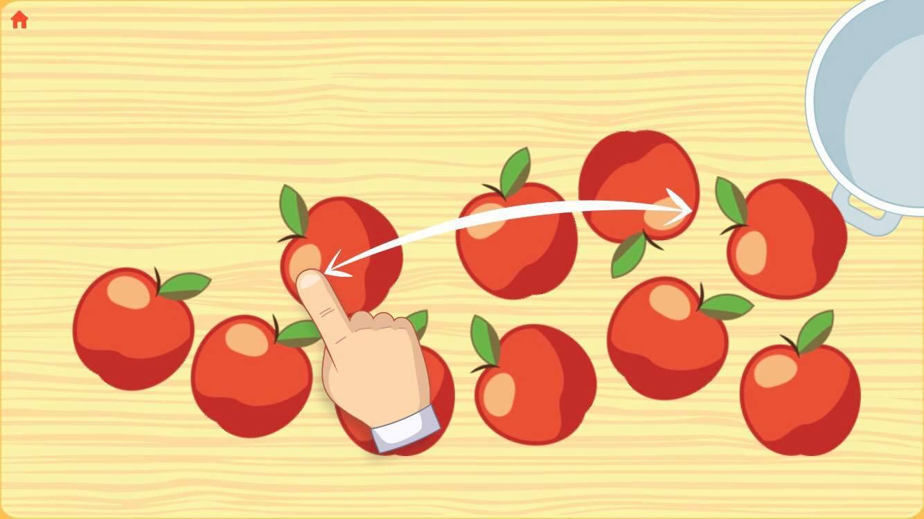 Cutting Apples on Apple Jam