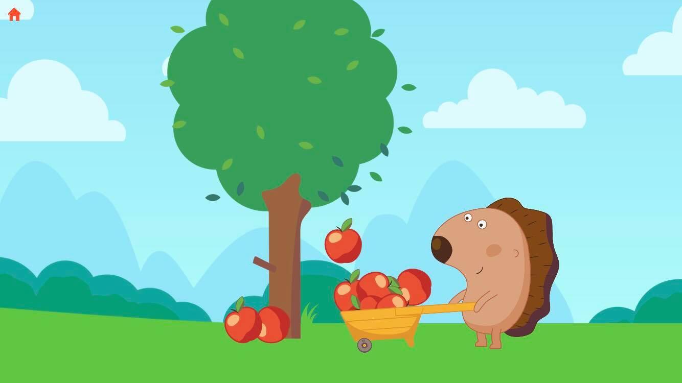 Picking apples on apple jam