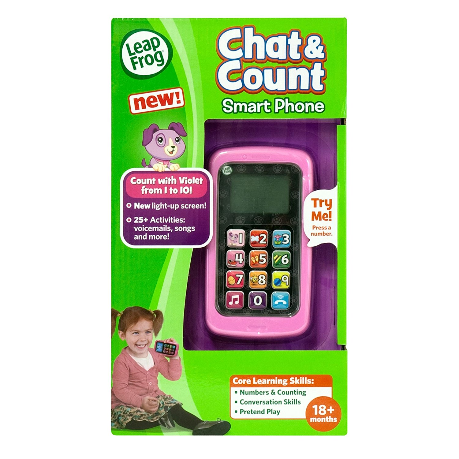 LeapFrog Count and Chat Cell Phone Violet