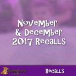 Kids product recalls 2017