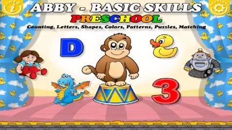 Pre-K basic skills app