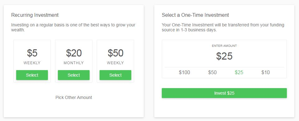 Reoccurring Investments for moms using acorns