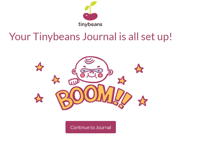 Setting Up Your Tiny Beans Journal