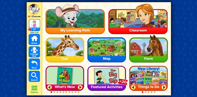 ABC Mouse Learning Videos and Activities