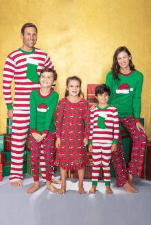 Matching Christmas PJs from Chasing Fireflies