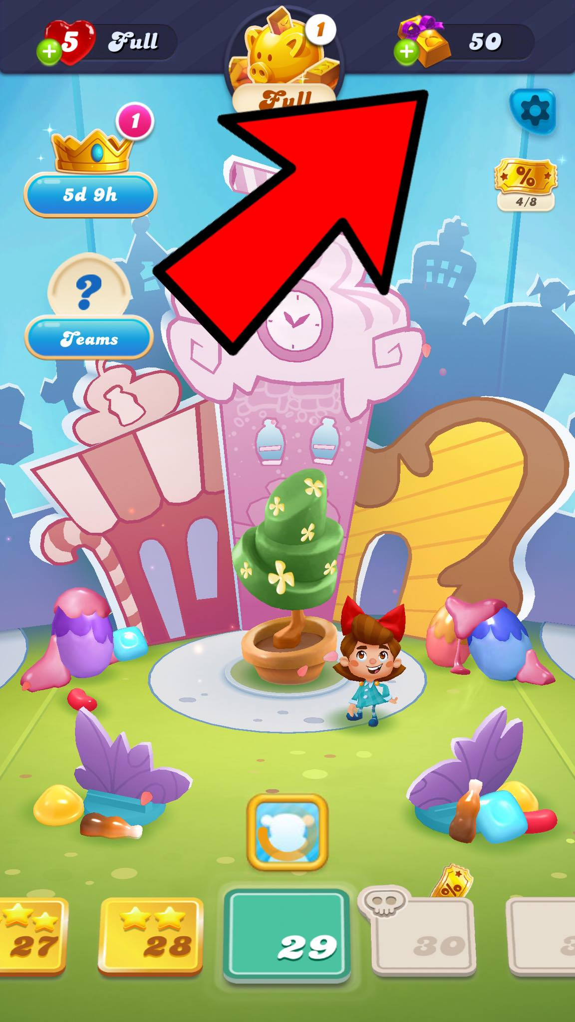 add candy boosters