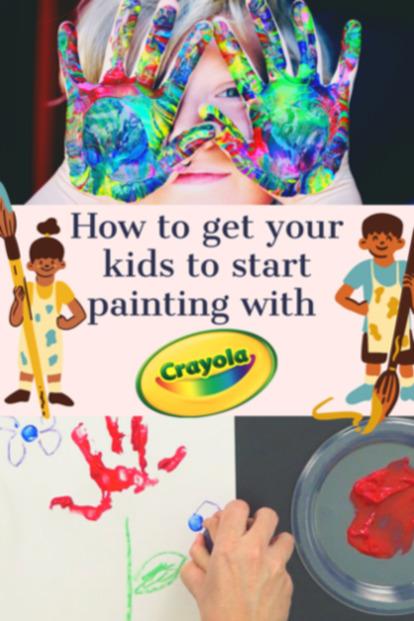 Kids Fingerpainting Crayola