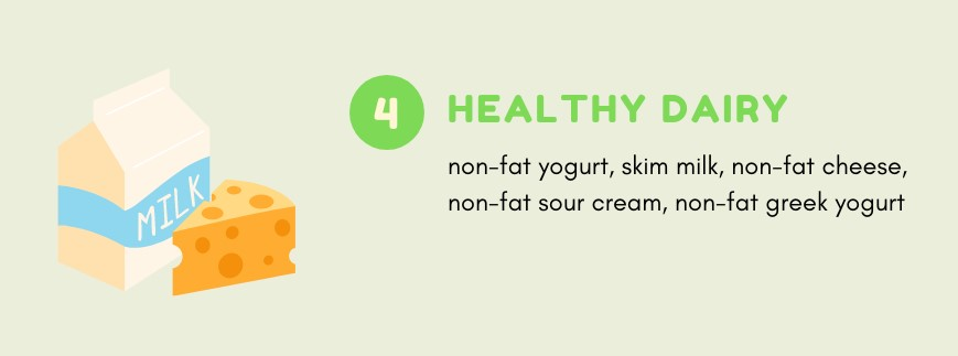 Healthy Dairy you can eat on Noom