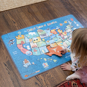 History and geography-Giant 100 Piece USA Map Puzzle