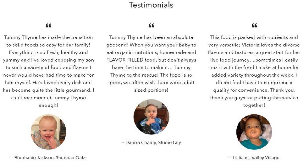 Tummy Thyme Testimonials