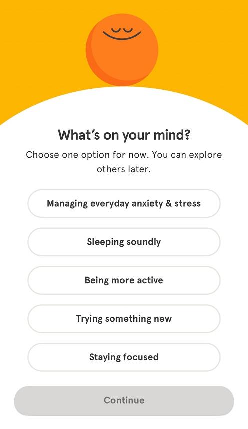Headspace goals