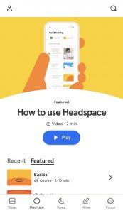 Meditate Headspace